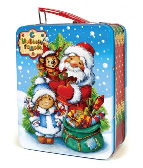 """Новогодняя жестяная упаковка """"Сладкий подарок"""""""