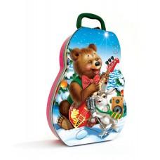 """Новогодняя жестяная упаковка """"Медвежата"""""""
